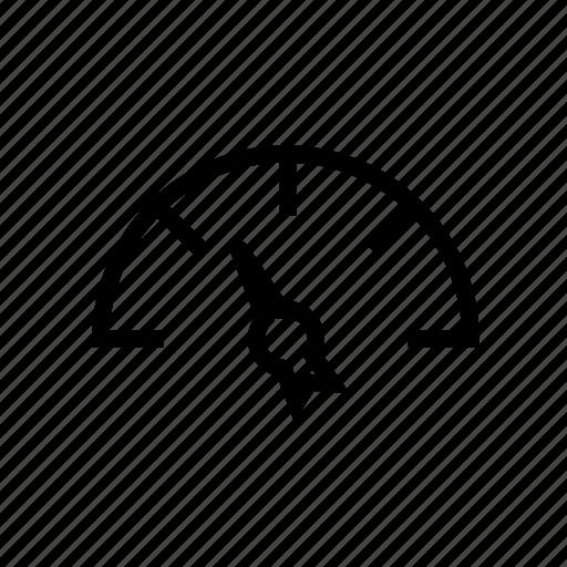 empty, gas, meter icon