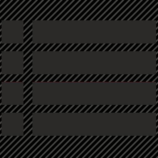 format, list, menu, text icon