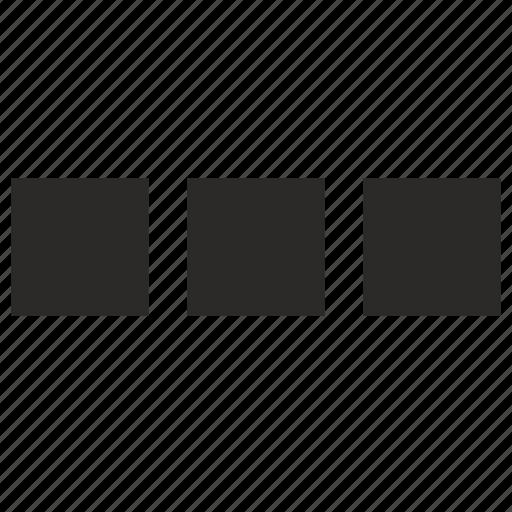 blocks, elipses, menu, square icon