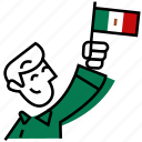 mexican, proud, mexico, national, country, flag, emojidf