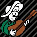 mexican, mexico, musician, mariachi, music, emojidf, ranchera