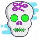 calaverita, dia de los muertos, mexican holiday, skull, sugar skull icon