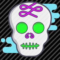 calaverita, dia de los muertos, mexican holiday, skull, sugar skull icon