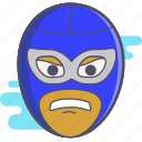 luchador, mask, mexican wrestler, wrestler icon