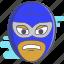 luchador, mask, mexican wrestler, wrestler icon