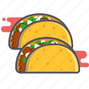 food, mexican food, tacos icon