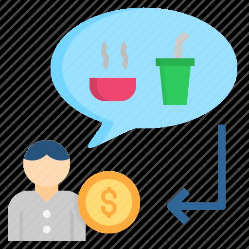 consumer, customer, demand, hungry, need icon