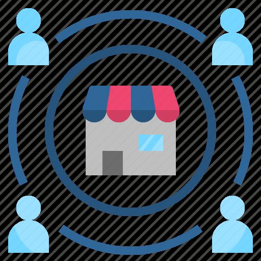 customer, influence, loyalty, market, regular icon