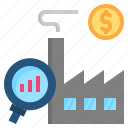 analysis, economic, factory, microeconomics, profit icon