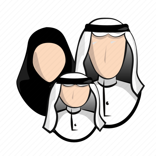 arabic, arabs, communication, community, family, group, social icon
