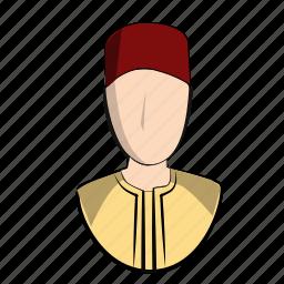 arabic, bahrin, clothes, doha, head, man, moroccan, morroco icon