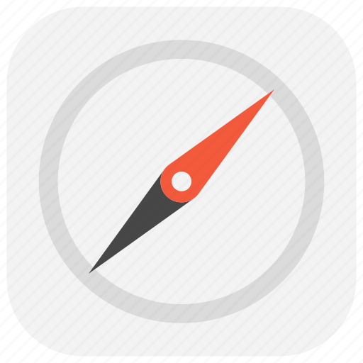 app, compass, direction, magnetic, north, orientation, ui icon