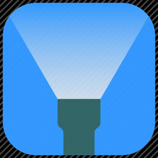 app, flashlight, illuminate, lantern, light, ui, web icon