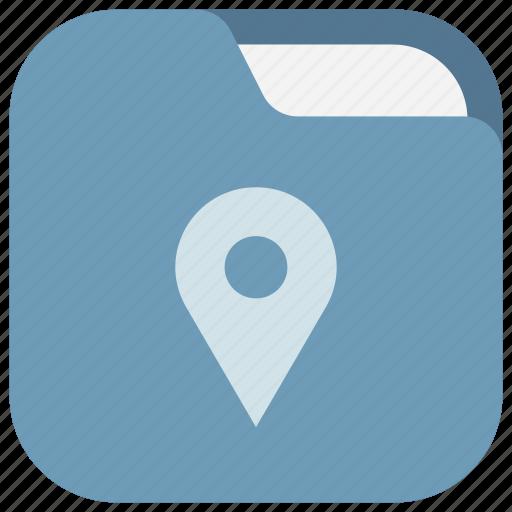app, destinations, folder, locations, my places, ui, web icon