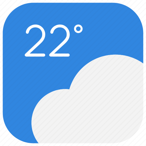 app, climate, cloudy, forecast, ui, weather, web icon
