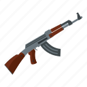 army, automatic, barrel, combat, gun, machine, military icon