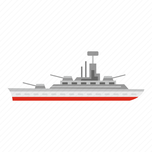 aggression, armed, army, battle, boat, military, warship icon