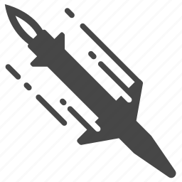 bomb, guided missile, launch, military, missile, rocket, war icon