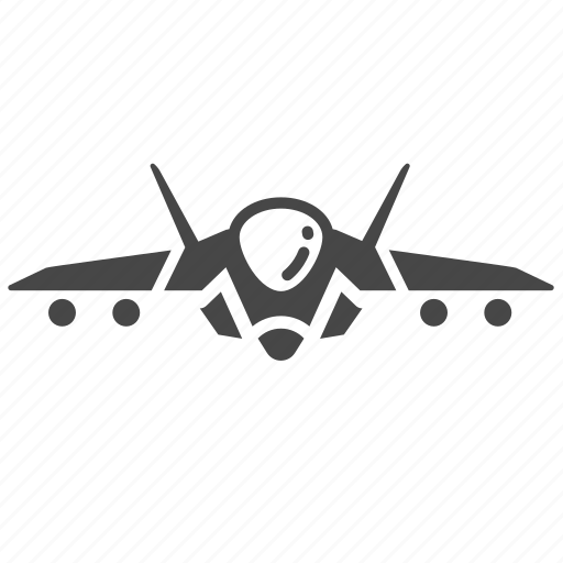 aircraft, bomber, fighter aircraft, jet, jet fighter, military, plane icon
