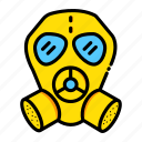 gas, mask, respirator, security, weapon icon