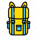 backpack, baggage, bags, luggage, military, travel icon