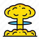 blast, bomb, explosion, explosive, miscellaneous, nuclear, war icon