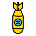 atomic, bomb, explosion, miscellaneous, nuclear, war, weapon icon
