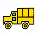 cargo, delivery, military, shipping, transport, transportation, truck icon
