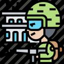 battle, combat, warfare, shooting, soldier icon