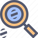 agent, detective, investigation, magnifier, magnifying glass, search, spy icon