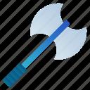 axe, battle, combat, fight, knight, war, weapon icon