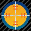 aim, crosshair, focus, goal, shoot, target, war icon
