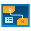 coordinate, direction, location, map, navigation, treasure icon