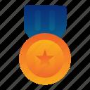 army, award, badge, honor, medal, veteran, war icon