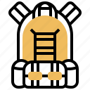 backpack, bag, equipment, gear, travel icon