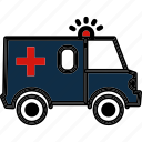 ambulance, emergency, health, hospital, medical icon