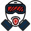 face, gas, mask, safety, toxic icon