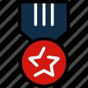 award, badge, medal, military, star