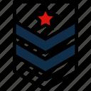army, badge, military, rank, star