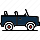 army, jeep, military, transport, vehicle icon