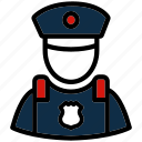 cop, police, policeman, profession, security icon