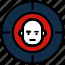 aim, focus, people, shooting, target icon