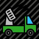 military, radar, transport, vehicle icon