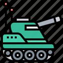 battle, cannon, tank, troop, warfare icon