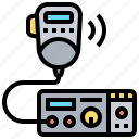 communication, device, military, radio, transceiver icon