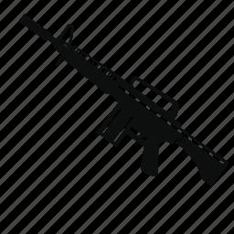 automatic, m4, machine gun, military, riffle, weapon icon