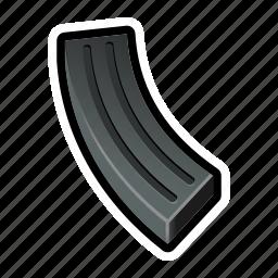 bullet, clip, fire, gun, military, shoot, weapon icon