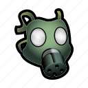 gas, mask, military, poison, protection icon