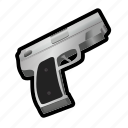 ammo, gun, military, pistol, revolver, shoot, weapon icon