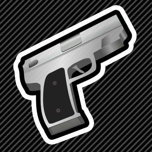 ammo, gun, military, pistol, revolver, shoot, weapon icon